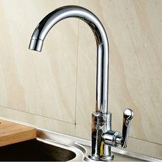 Graceful Brass Kitchen Faucet