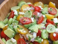 Tomato Cucumber Avocado Salad is the perfect EASY, light and fresh summer side dish. Tastes Better From Scratch Side Dishes For Bbq, Summer Side Dishes, Side Dish Recipes, Hawaiian Side Dishes, Dishes Recipes, Healthy Snacks, Healthy Eating, Healthy Recipes, Pureed Recipes