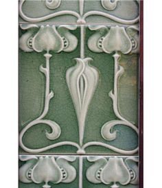 Edwardian Fireplace Tiles in Ceramic Art Nouveau