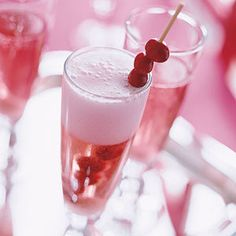 Sparkling Cranberry Rose Three ingredients make this champagne drink easy to celebrate. It's holiday blush makes it ideal for Christmas and New Year's celebrations.