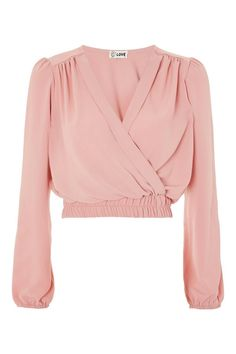 **V-Neck Cross Over Top by Love - Topshop: Paired with Dusty blue paper bag pants? Hijab Fashion, Fashion Outfits, Womens Fashion, Fashion Trends, Stylish Clothes For Women, Stylish Outfits, Topshop, Clothing Hacks, Cute Fashion
