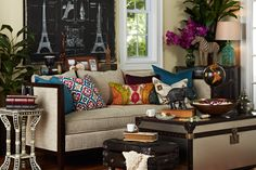Rich swaths of color and textured fabrics layer a Traveler's styled home in a warm, adventurous light.     Find out what type of home decor personality you have by taking our Stylescope quiz. Click here!