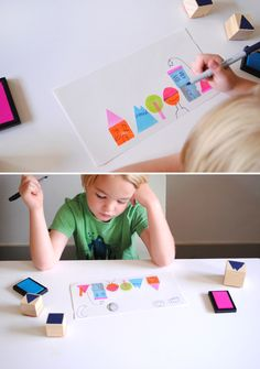 DIY foam Stamps http://mermagblog.com/diy-silly-face-stamps-and-a-get-messy-contest/  DOWNLOAD SILLY FACE STAMPS IDEAS SHEET 1-4