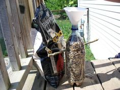 Free, Easy-to-make Pop Bottle Bird Feeder for Seed and Grains | Suite101