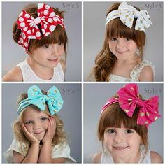 Bandeaux de bébé choisir couleur filles chef par ThinkPinkBows