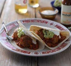 Chipotle Meatballs & Guacamole