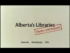 Alberta's Libraries Commercial 2: Books and Beyond  http://youtu.be/Y1x7kvDfA5o