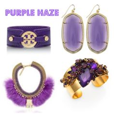 In honor of Pantone's color of 2014 Radiant Orchid | Purple Jewelry & Baubles!