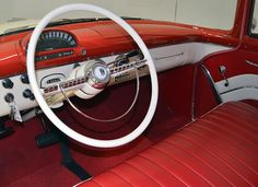 1955 Ford Country Squire station wagon - interior / dash