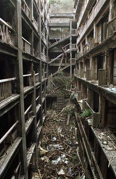 residential living quarters on Battleship Island ---Japan