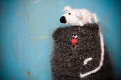 Big cat and little mouse by totootse on Etsy, $75.00