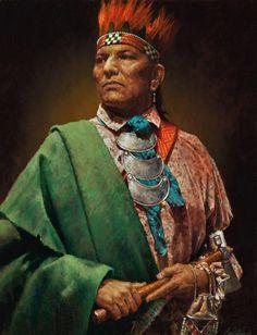 Pontiac (Obwandiyag), a Native Chief in the Ottawa clan, Canada