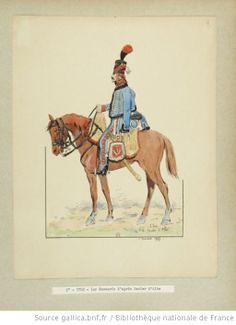 1st Hussars c 1798 after Bacler d'Albe. Drawing by E.Fort