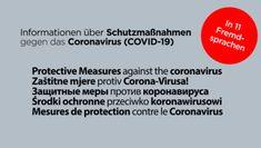 COVID-19: Informationen zu wichtigen Hygiene- und Verhaltensregeln in Fremdsprachen: Österreichischer Integrationsfonds ÖIF Code Of Conduct, Foreign Language