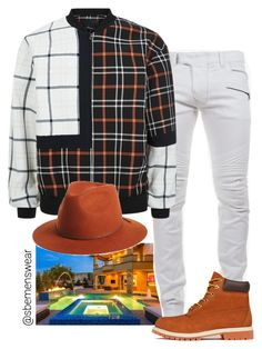 """Fly guy"" by efiaeemnxo ❤ liked on Polyvore featuring Balmain, 3.1 Phillip Lim, Brixton and Timberland"