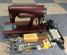 79 best old sewing machines images on pinterest old sewing serviced works perfectly vintage kenmore rotary 117 95 sewing machine heavy duty kenmore fandeluxe Choice Image