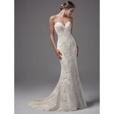 Cheap 2017 wedding dress, Buy Quality beach wedding dress directly from China sweetheart mermaid Suppliers: Women 2017 Wedding Dresses Lace Sweetheart Mermaid/Trumpet Wedding Gowns Button Beading Beach Wedding Dress Court Train Wedding Dresses Photos, Western Wedding Dresses, Designer Wedding Dresses, Dream Wedding Dresses, Bridal Dresses, Form Fitting Wedding Dresses, Fitted Wedding Dresses, Fit And Flare Wedding Dress, Wedding Gowns