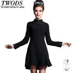 dress Luxury crystal stand long sleeve slim Mermaid short solid balck white party dress 8L Love it? http://www.artifashion.net/product/dress-luxury-crystal-stand-long-sleeve-slim-mermaid-short-solid-balck-white-party-dress-8l/ #shop #beauty #Woman's fashion #Products