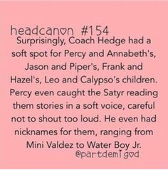 Awwww!!!! I LOVE IT!!!! (especially that Leo and CALYPSO part!!! WOOHOO!!)