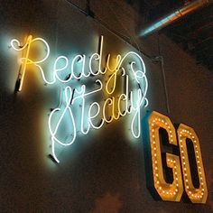 'Ready, Steady, Go' Neon... One of Pinterest's slogans in their San Francisco headquarters - Photography by Sarah G. Stevenson