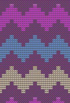Wayuu Mochilla Bag Chart - Bag and Purse Knitting Charts, Knitting Stitches, Knitting Yarn, Knitting Patterns, Bargello Patterns, Tapestry Crochet Patterns, Crochet Chart, Knit Or Crochet, Tapete Floral