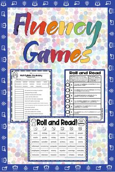 Multisyllabic Word Games for Decoding Words See Our YouTube Video about Multisyllabic Word Lists! This product is a sampler of the following activities (which can be found in our year-long best-selling Multisyllabic Word Lists Bundle). 3 worksheets are included. 1 Multisyllabic Fluency Mat (this is a Roll-the-Dice and Read game) 1 Multisyllabic Sentence Fluency Printable (this is a Roll-the-Dice and Read game): 7-sentence game to promote multisyllabic reading fluency Word Games, Math Games, Maths, Reading Fluency Games, Upper Elementary Resources, Math Rotations, Math Challenge, Compound Words, Vocabulary Building