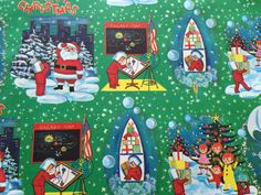 Vintage Christmas Wrapping Paper  Juvenile by TheGOOSEandTheHOUND