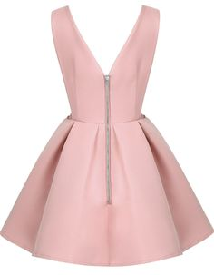 Shop Pink Zippered V Neck Backless Midriff Heart Flare Dress online. SheIn offers Pink Zippered V Neck Backless Midriff Heart Flare Dress & more to fit your fashionable needs.