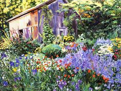 An Impressionist Garden by David Lloyd Glover - An Impressionist Garden Painting - An Impressionist Garden Fine Art Prints and Posters for Sale