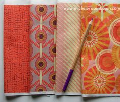 Bella Roma Collection by Michele Rosenboom.  Pictured in Terracotta.  Available on Spoonflower.