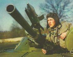 East German commander of a BMP-1 infantry fighting vehicle.