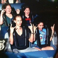 On a roller coaster ride with Vanessa Hudgens and Austin Butler