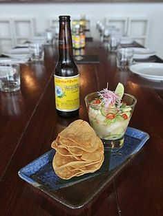 Prawn ceviche and a jalapeno margarita from MX Restaurant, Mona Vale #northernbeaches #jalapenomargarita #mexicanfood