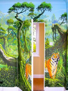 tableau sur toile animal sauvage dans la jungle tropicale pixers nous vivons pour changer. Black Bedroom Furniture Sets. Home Design Ideas