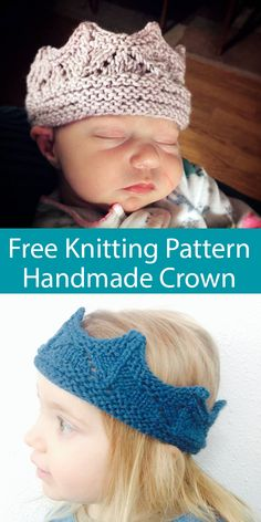 Free Knitting Pattern for Easy Miss Savannah Bow kostenlose Stiefelmanschetten Knitted Crown For Little Girls On Double Pointed Needles Baby Knitting Patterns, Knitting Blogs, Knitting For Kids, Free Knitting, Knitting Ideas, Easy Knitting Projects, Crown Pattern, Knit Headband Pattern, Yarn Brands