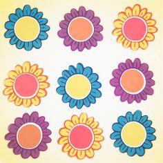 GelWonder | Window Clings | Large Bag of Sketched Flowers