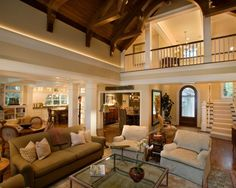 images about Vaulted ceiling rooms on Pinterest   Vaulted        Stone Residence  Traditional Living Rooms  Traditional Homes  Traditional Design  Traditional Open  Traditional Exterior  Familyroom  Open Floor Plans