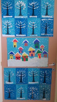 ideas winter art projects for kids kindergarten learning January Art, January Crafts, Winter Art Projects, Winter Crafts For Kids, Preschool Christmas, Christmas Art, Theme Noel, Classroom Crafts, Elementary Art