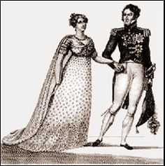 """paintings of desiree clary   Désirée and Jean-Baptiste Bernadotte - old """"fashion plate"""" engraving"""