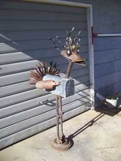 Yard Art Made From Junk | mail box yard art junk art