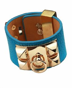 Punk Style Leather Cuff Bracelet