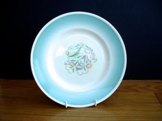 1930s Susie Cooper Plate Collector Plate Dresden Spray Pattern Art Deco Plate by FillyGumbo