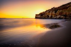 Behind the cliff - Anzio (Italy). Photo taken at sunset near the Arco Muto cliff