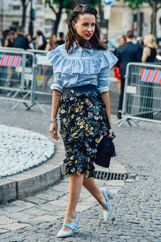 mixed and matched Natasha Goldenberg with Miu Miu  street style by Tommy Ton