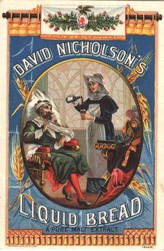 David Nicholson's Liquid Bread : a pure malt extract.