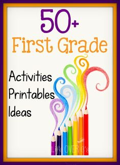 Life Over C's: 1st Grade Activities, Printables and ideas. Has more than just first grade activities