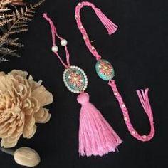 Rakhis – Jewellery By Mitali Jain Gift For Raksha Bandhan, Rakhi Images, Handmade Rakhi Designs, Silk Thread Bangles Design, Rakhi Making, Rakhi Gifts For Sister, Rakhi Online, Jewelry Design Earrings, Jewellery