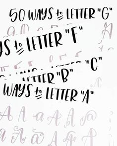50 ways to letter the alphabet