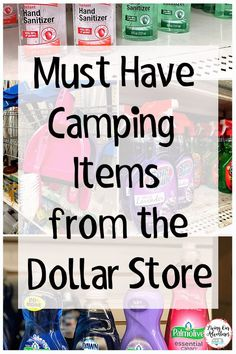 , Are you getting ready for camping season, but don't want to break the bank? , Are you getting ready for camping season, but don't want to break the bank? Check out these Dollar Store Must Haves for Camping that you can't camp wi. Camping Must Haves, Camping Ideas, Camping Hacks With Kids, Rv Camping Tips, Travel Trailer Camping, Camping Glamping, Camping Supplies, Family Camping, Outdoor Camping