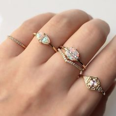 Vale Jewelry Perseids, Meridian, Tropics, Vesper and Vapor Rings